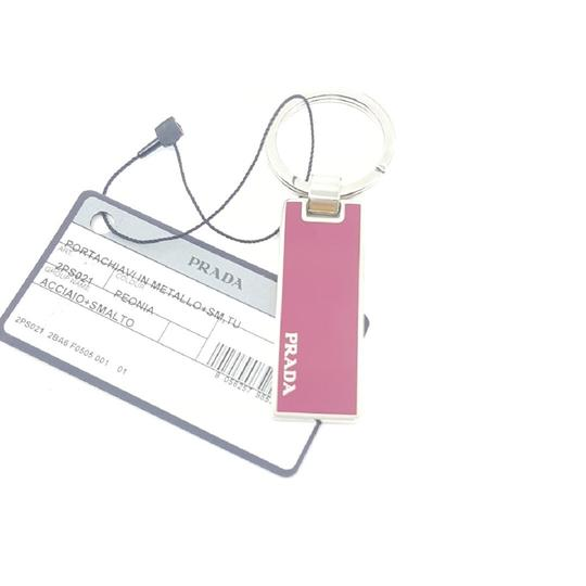 Prada Prada Portachiavi in Metallo Peonia Red Enameled Keychain Charm 2PS021 Image 1