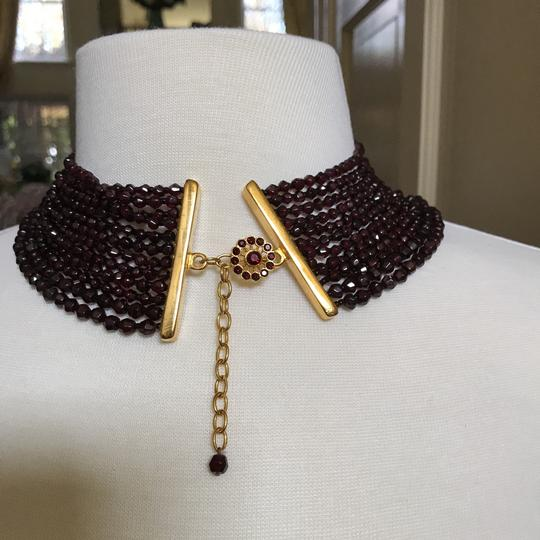 Jose & Maria Barrera Limited and Exceptional Jose and Maria Berrera Garnet and Gold Bib Necklace and Matching Earrings Image 11