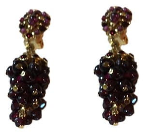 Jose & Maria Barrera Limited Jose and Maria Barrera Garnet Cluster Clip on Earrings