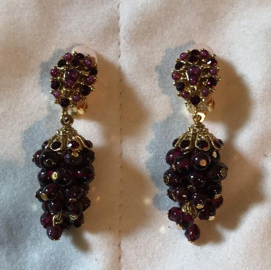 Jose & Maria Barrera Limited Jose and Maria Barrera Garnet Cluster Clip on Earrings Image 1