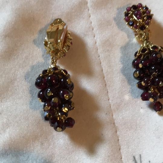 Jose & Maria Barrera Limited Jose and Maria Barrera Garnet Cluster Clip on Earrings Image 2