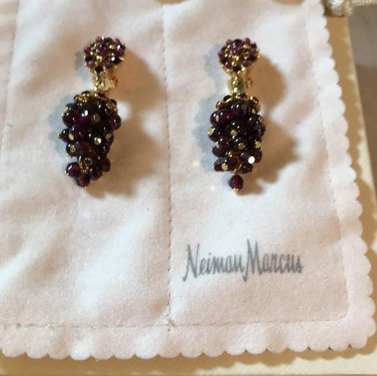 Jose & Maria Barrera Limited Jose and Maria Barrera Garnet Cluster Clip on Earrings Image 4