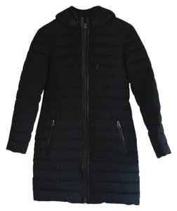 Mackage Fitted Down Leather Winter Water Repellant Warm Coat
