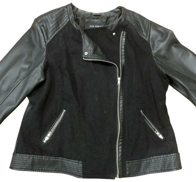 Preload https://img-static.tradesy.com/item/25110837/pure-energy-women-s-black-faux-leather-jacket-size-20-plus-1x-0-1-650-650.jpg