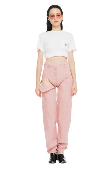 Preload https://img-static.tradesy.com/item/25110906/yproject-pink-front-thigh-cut-out-pants-trouserwide-leg-jeans-size-28-4-s-0-0-650-650.jpg