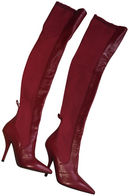 Item - Red Leather Cuissard Boots/Booties Size US 8.5 Regular (M, B)