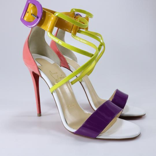 Christian Louboutin Living Coral Coral Coral Cross Strap Multicolor Sandals Image 2