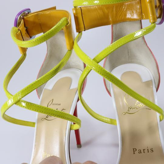 Christian Louboutin Living Coral Coral Coral Cross Strap Multicolor Sandals Image 5