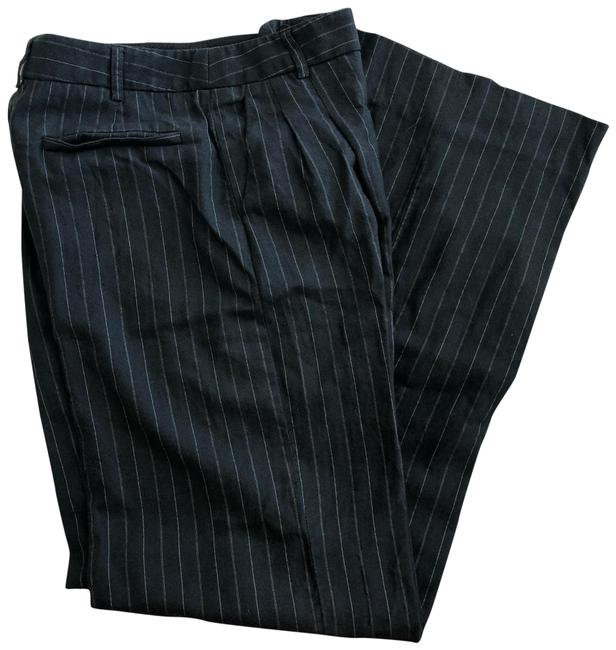 Item - Black; Gray Pinstripe Wide Leg Pants Size 6 (S, 28)