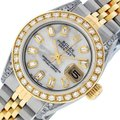 Rolex Ladies Datejust Ss/Yellow Gold with MOP Baguette Diamond Dial Watch Image 0