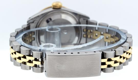 Rolex Ladies Datejust Ss/Yellow Gold with MOP Baguette Diamond Dial Watch Image 2