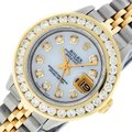 Rolex Ladies Datejust Ss/Yellow Gold with MOP Diamond Dial Watch Image 0