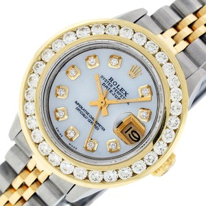Rolex Ladies Datejust Ss/Yellow Gold with MOP Diamond Dial Watch