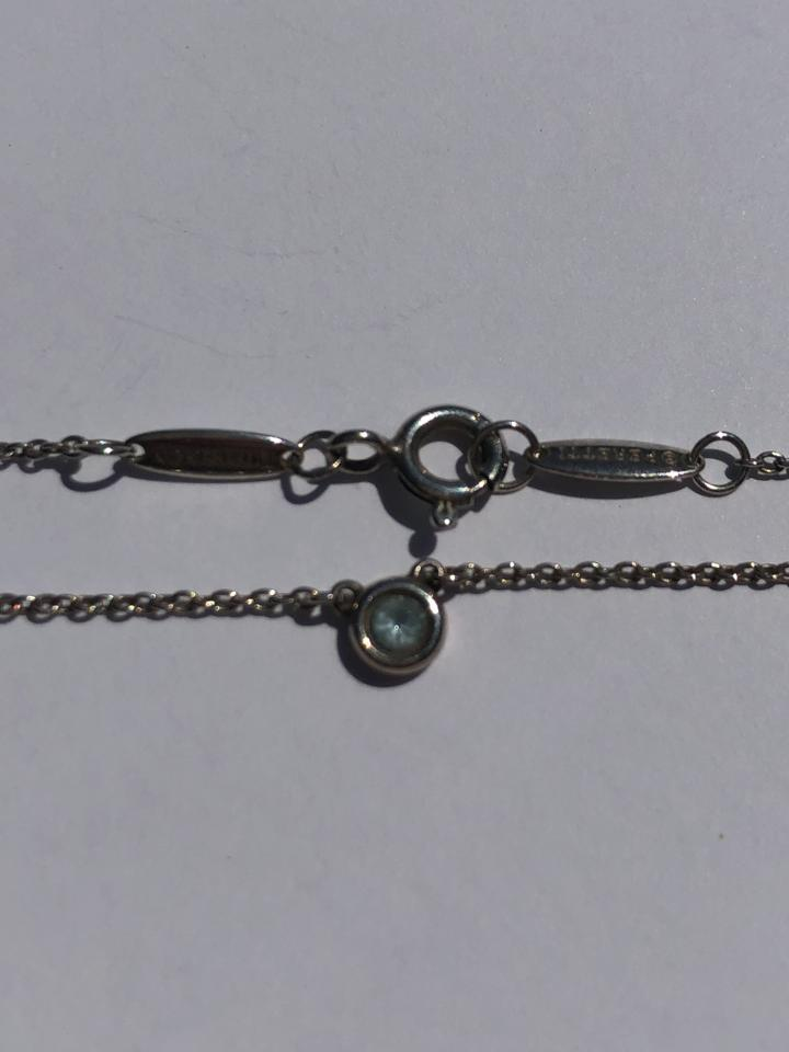 9989172b9c966 Tiffany & Co. Silver Sterling Elsa Peretti Color By The Yard Blue Topaz Nec  Necklace