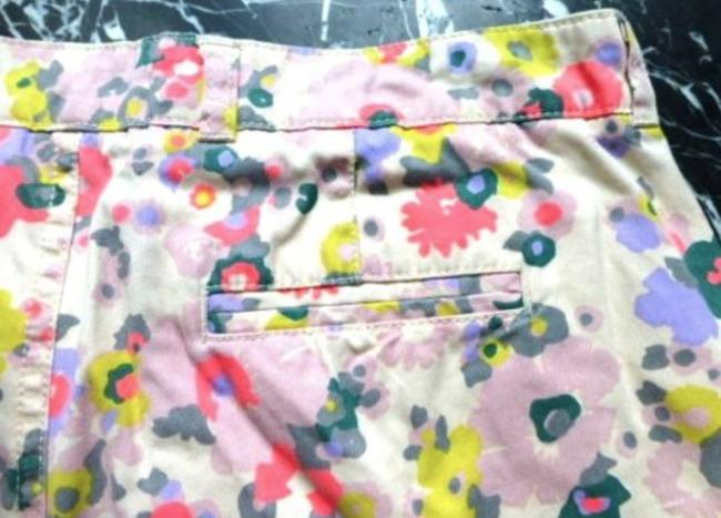 Boden Floral Turn-up Pockets Belt Loops Jonnie Mini/Short Shorts Multicolored Image 6
