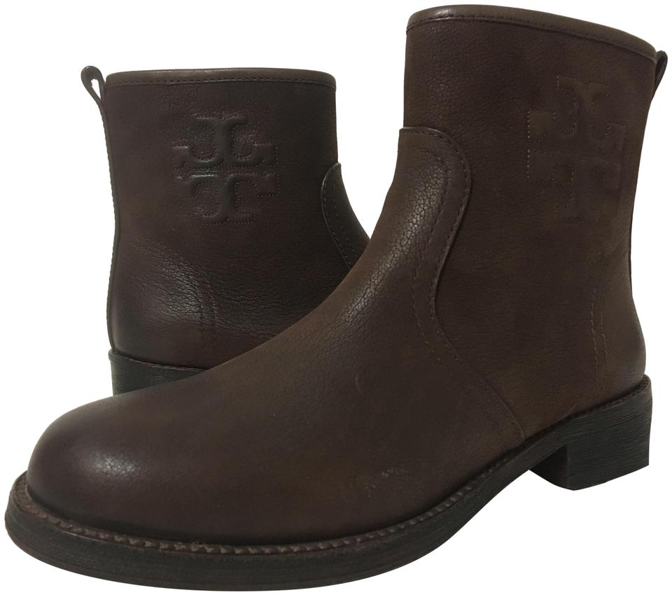 9e1ac79883ba Tory Burch Brown Leather Simone Boots Booties Size US 8 Regular (M ...