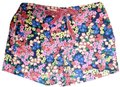 Boden Floral Elastic Waist Velvet Ribbon Tie Pockets Mini/Short Shorts Multicolored Image 0