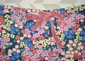 Boden Floral Elastic Waist Velvet Ribbon Tie Pockets Mini/Short Shorts Multicolored Image 2