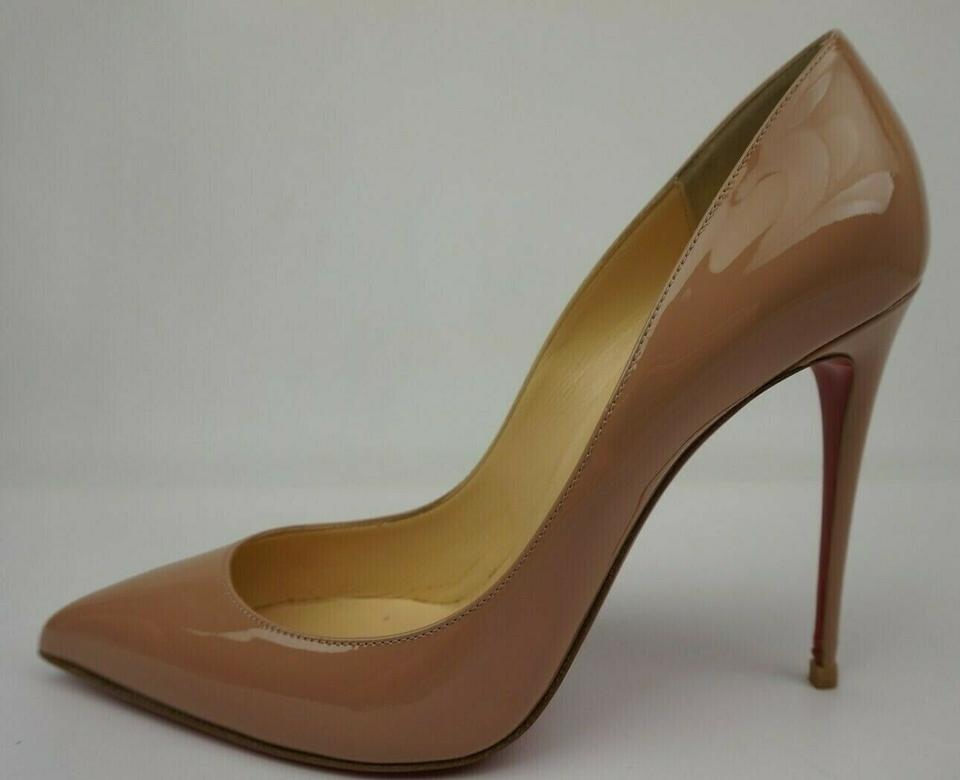 Christian Louboutin Beige Nude Patent Rosie Strap 120mm