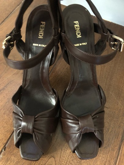 Fendi brown Platforms Image 2