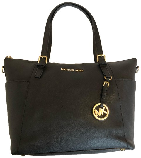 Preload https://img-static.tradesy.com/item/25111487/michael-michael-kors-tote-black-leather-satchel-0-1-540-540.jpg