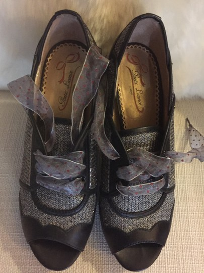 Poetic License Size 8.5 Peep Toe Leather brown Pumps Image 2