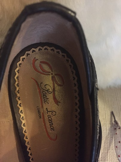 Poetic License Size 8.5 Peep Toe Leather brown Pumps Image 5