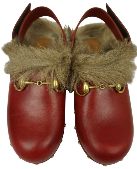 Gucci Red Mules Image 0