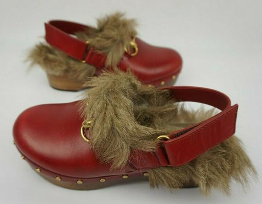 Gucci Red Mules Image 2