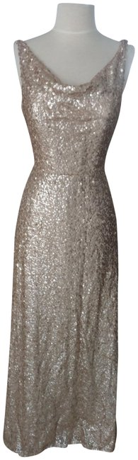 Item - Rose Gold Sequin Style # 4508 - Studio Design Long Formal Dress Size 8 (M)