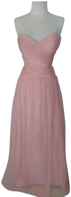 Item - Rose / Tule Style # 2950 Strapless Soft Long Formal Dress Size 6 (S)
