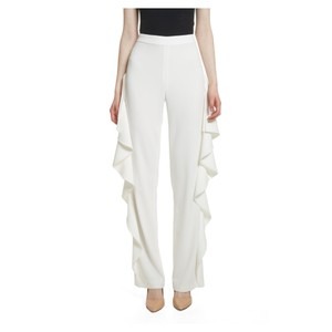 Alice + Olivia Straight Pants off-white