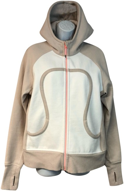 Item - Wheat/White Wheat/White Pink Zip Activewear Outerwear Size 12 (L)