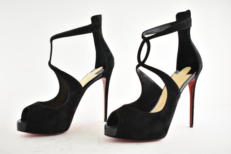 264d8939f73 Christian Louboutin Stiletto Classic Choca Crisscross Strap Ankle Strap  black Pumps Image 9. 12345678910