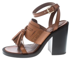 Burberry Leather Tassels Brown Sandals