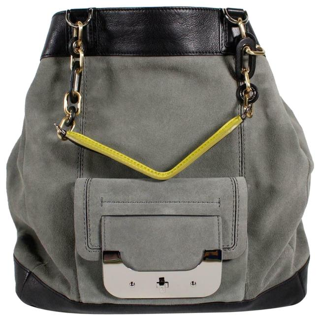 Item - Gray Suede Leather Satchel