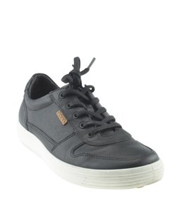 Ecco Sneakers Leather Black Flats