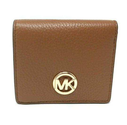 525bbe699f89 Michael Kors Luggage Pebbled Leather Fulton Carryall Card Case Wallet