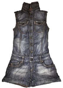 Guess By Marciano Romper Jumper Jumper Romper Denim Shorts-Distressed