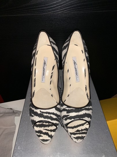 Brian Atwood White/Black Pumps Image 1