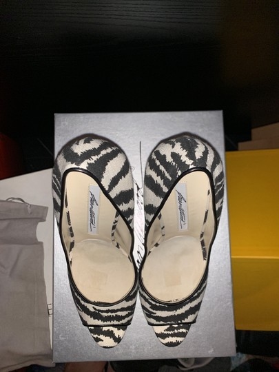 Brian Atwood White/Black Pumps Image 2