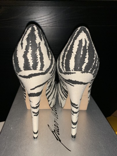 Brian Atwood White/Black Pumps Image 3