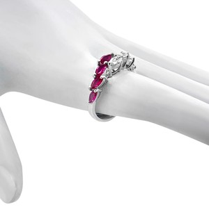 Other 18K White Gold .66ct Ruby and Diamond Ring