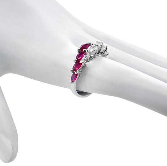 Other 18K White Gold .66ct Ruby and Diamond Ring Image 0