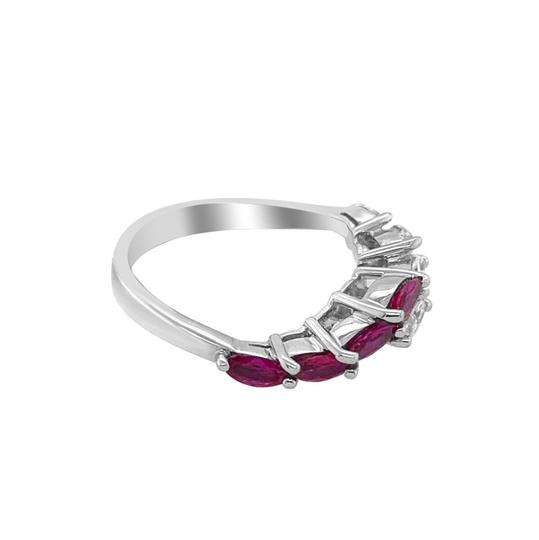 Other 18K White Gold .66ct Ruby and Diamond Ring Image 1