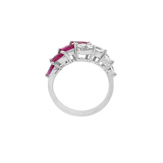 Other 18K White Gold .66ct Ruby and Diamond Ring Image 2
