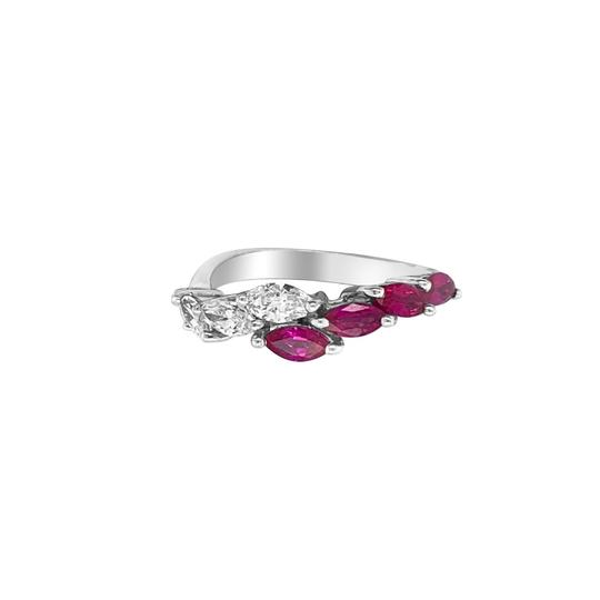 Other 18K White Gold .66ct Ruby and Diamond Ring Image 3