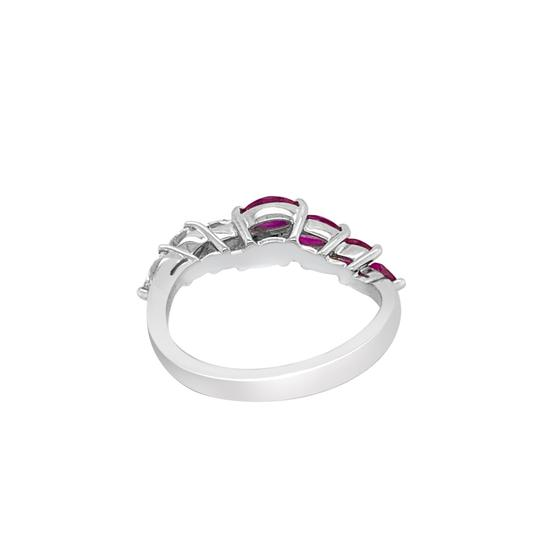 Other 18K White Gold .66ct Ruby and Diamond Ring Image 4