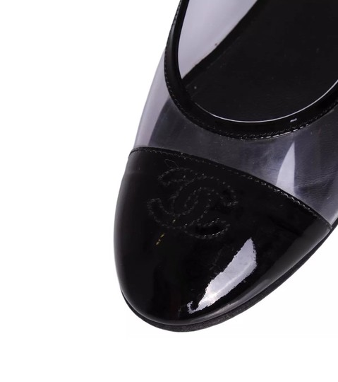 Chanel Black and Clear Flats Image 1