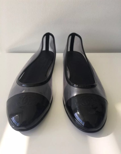 Chanel Black and Clear Flats Image 2